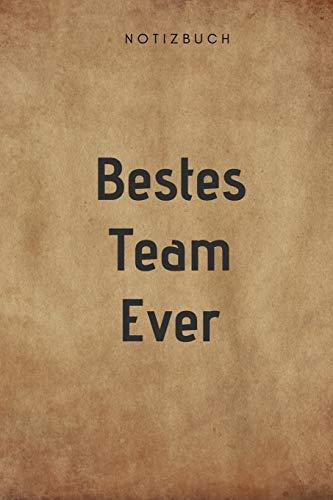 Bestes Team Ever Notizbuch: 108 Seiten kariert (6x9 /15.24 x 22.86 cm) Geschenk an eine besondere Gruppe