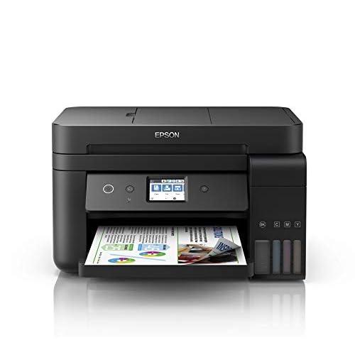 Epson EcoTank Et-4750 Stampante Inkjet 4-in-1, Stampa Fronte/Retro, Fax, Velocità di Stampa 15 ppm, Connettività Wi-Fi e App, Nero