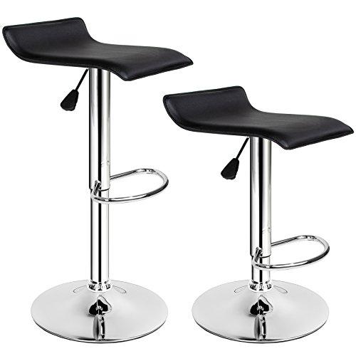 TecTake Tabourets de Bar Chaise Fauteuil bistrot réglable pivotant siège Design - diverses modèles - (2X Lars | no. 401571)