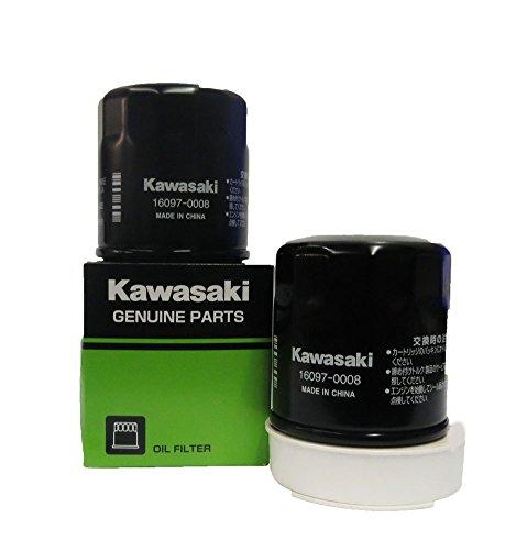 Genuine Kawasaki Oil Filter Part Number 16097-0008, 2 pack