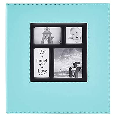 Ywlake Photo Album 1000 Pockets 6x4 Photos, Extra Large Size Leather Cover Slip in Wedding Family Photo Albums That Holds 1000 6x4 / 10x15cm Photos Pictures Teal