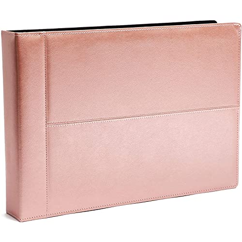 7 Ring Rose Gold Business Check Binder, Holds 600 Checks, 3 on a Page, (14 x 2 x 10 in.)