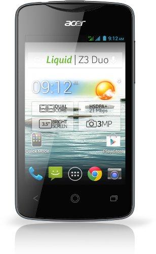 Acer Liquid Z3 Dual SIM Smartphone (8,9 cm (3,5 Zoll) Touchscreen, WiFi, Bluetooth, Android 4.2) schwarz