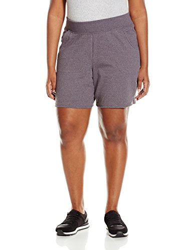 Just My Size Women's Plus Cotton Jersey Pull-On Shorts - 1X Plus - Charcoal Heather