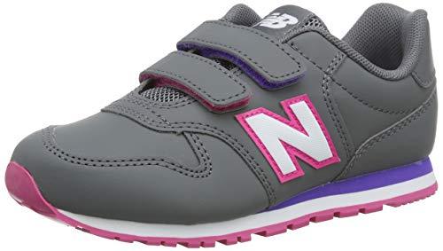 New Balance 500 YV500RGP Wide, Zapatillas Niñas, Grey (Cast