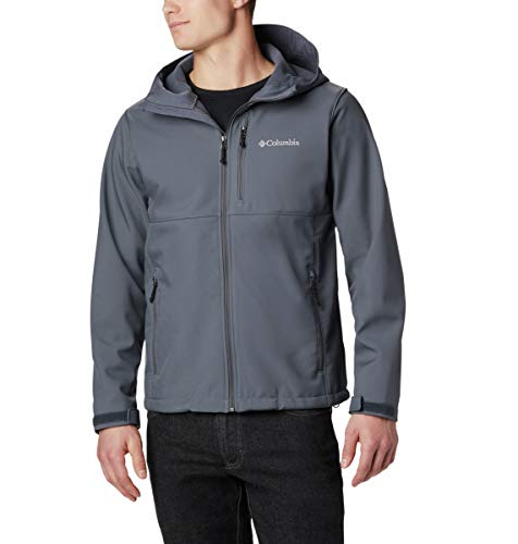 Columbia Men's Ascender Hooded Softshell Jacket, Graphite, Medium