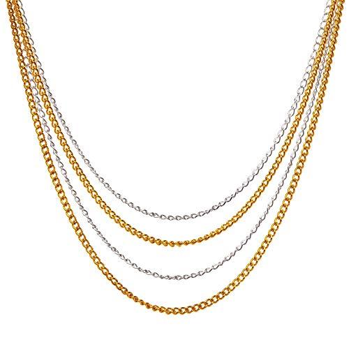 Baker Ross AW647 - Cadenas doradas y plateadas (2 metros por color) - Actividad de manualidades infantiles para crear joyas, Dorado/ Plateado