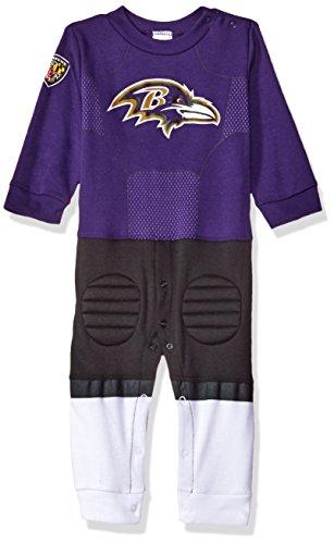 NFL Baltimore Ravens Boys Footless Footysuit, 18 Months, Purple