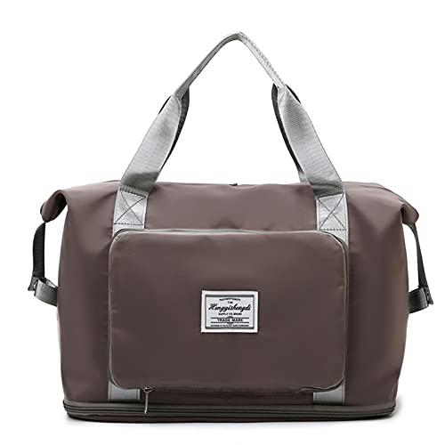 Crazyfly Bolsa de viaje de gran capacidad, impermeable, bolsa de hombro Oxford, plegable, bolsa de viaje, expandible, bolsa de gimnasio, unisex