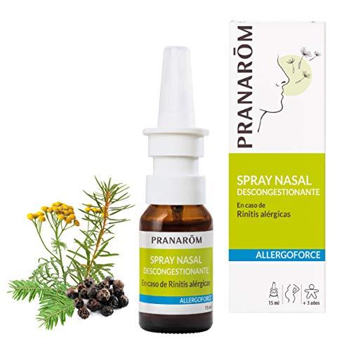 Pranarôm - Allergoforce - Spray Nasal Descongestionante - En caso de Rinitis Alérgicas - Nariz Tapada Por el Polen, Polvo, los ácaros - 15 ml