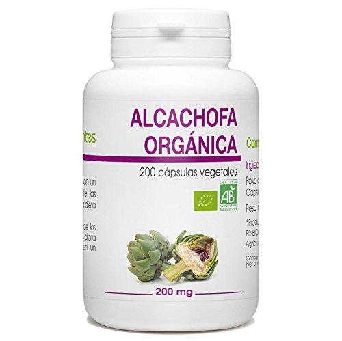 Alcachofa Orgánica - Cynara scolymus - 200mg - 200 cápsulas vegetales