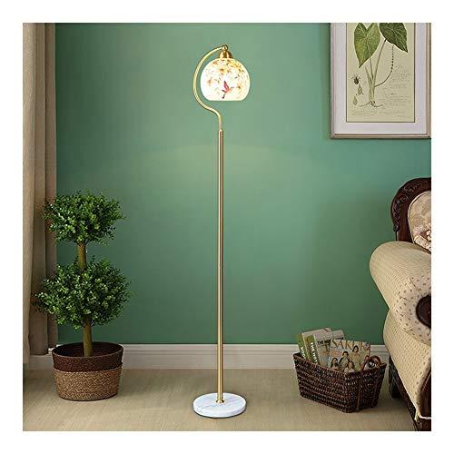 Stehlampe, Wohnzimmer LED Stehleuchte Wirtschaftliche Stehlampe Standlampe Stehlampe Torchiere Light Volle kupferne Stehlampe 7W Fernbedienung, die Farbbirne verdunkelt