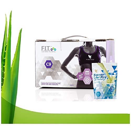 Forever living clean 9 programa de limpieza interna chocolate & vainilla eficaz y fácil de usar 5 productos bebida aloe vera dieta para perdida de peso. (Ultra vainilla)
