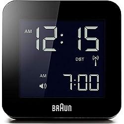 Braun BNC009BK-RC Digital Quartz Alarm Clock