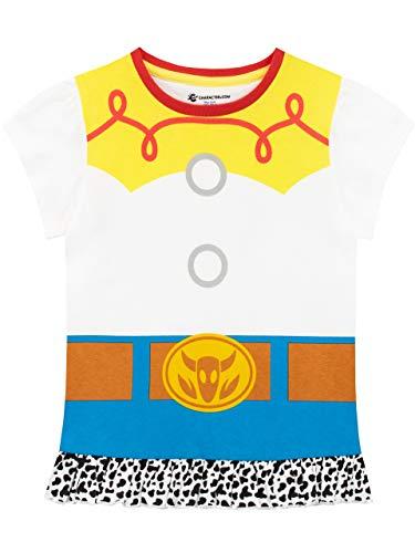 Disney Camiseta de Manga Corta para niñas Toy Story Jessie Blanco 6-7 Años