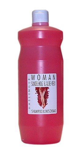 Haslinger WOMAN Sandelholz & Aloe Vera Shampoo & Duschbad 1 Liter/unboxed