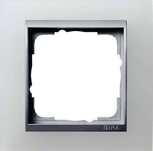 Gira 021150 Abdeckrahmen 1-fach für alu Event opak, weiß