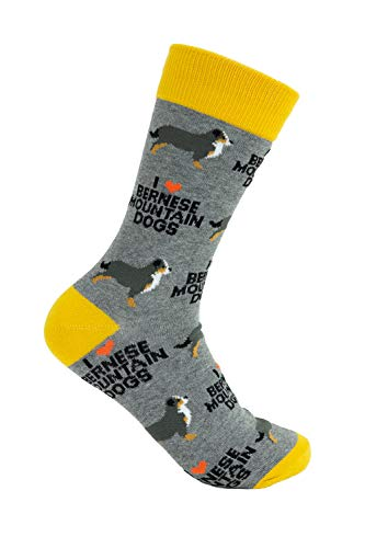 Socks with Dogs on them - Unisex I Love Bernese Mountain Dogs'Berners' Socks