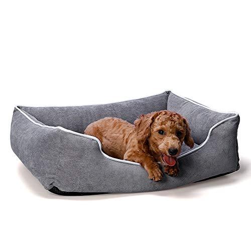 Queta Cama para Perros y Gatos - Perrera para Cachorros Sofá para Mascotas Suave Cómodo Almohadilla Cálida de Mascotas Antideslizante Extraíble y Lavable Invierno (S - 54 * 43 * 18cm)