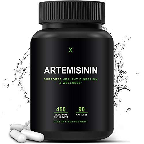 Artemisinin 450 mg - Artemisia Annua - Sweet Wormwood Extract - Artemisinin Capsules Support Healthy Aging, Digestion, and Immunity - Easy to Swallow Veggie Capsules - HumanX