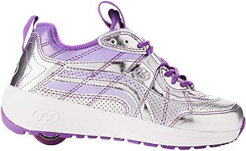 Heelys Mädchen Nitro Sneaker, Silber (Silver/Violet Silver/Violet), 34 EU
