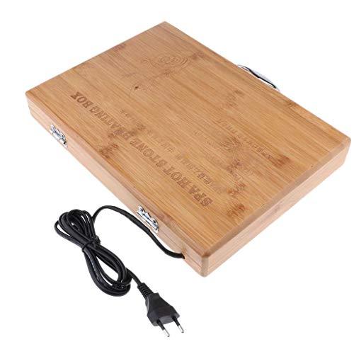 Tubayia Hot Stone Massage Heizbox kann halten 20 Stück Heiße Steine für Spa, Wellness und Entspannung