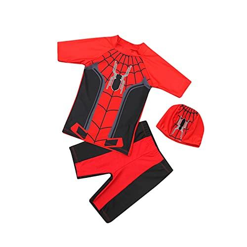 Garçon fille maillots de bain Spiderman Natation Costume Summer Surf Maillots Maillots de bain Set Shorts Shorts Trunks Cartoon Piscine Party Wetsuit Hawaiian Beachwear Vacances,Red-kid S(85~95cm)