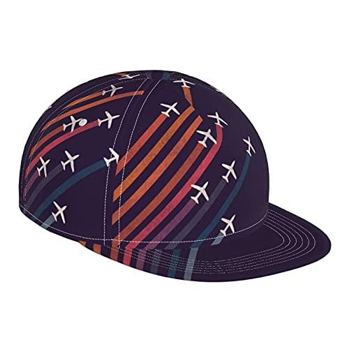 GCDD Gorra de béisbol plana 3D de vuelo de escalada con arco iris, ajustable, con visera plana, gorra de deporte para papá, sombrero de camionero para hombres y mujeres