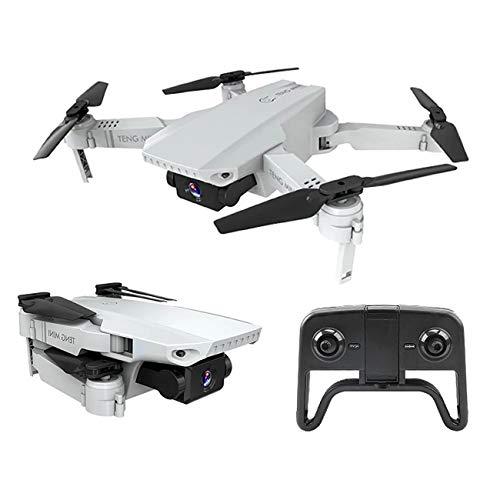 Teng - Drone quadricottero radiocomandato con videocamera 4k inoffensivo, Pieghevole, con radiocomando con App e comandi a gesti con Custodia per Il Trasport
