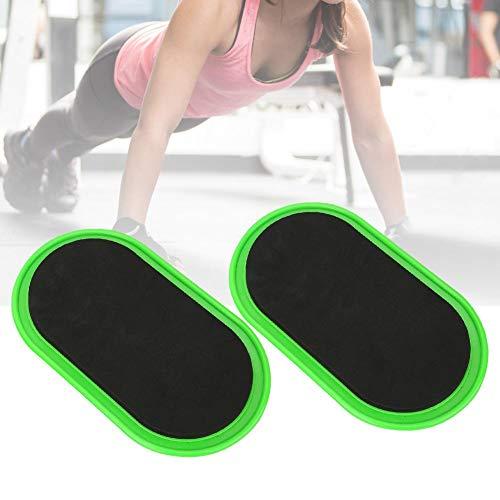 Worii Disco Deslizante de Fitness, tapete Deslizante de Fitness, Viaje de Entrenamiento de 2 Piezas para Fitness en casa
