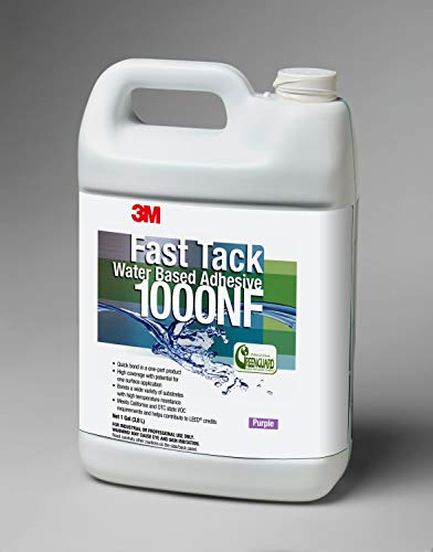 3M 1000NF Purple Fast Tack Water Based Adhesive, 1 Gallon