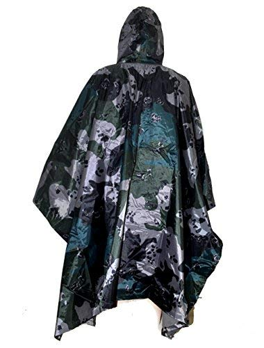 ELLEN Impermeable multifuncional impermeable camuflaje militar para camping, tienda de campaña, cubierta de lluvia al aire última intervensión (camuflaje de flores americanas)
