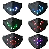 Voice Activated LED Face Mask - Imitates Lips Speaking - Animation Commands -Halloween and Christmas Talking Mask - Holiday Gift