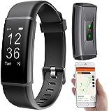 PEARL Fitnessuhr mit GPS: Fitness-Armband, GPS-Streckenverlauf, Puls, 13 Sportarten, App, IP67 (Fitnessarmband mit GPS)