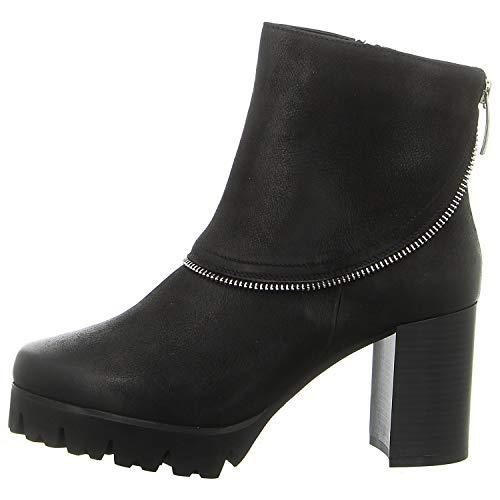 Tizian Botines Manhattan 02 para mujer, de piel lisa, color negro, color Negro, talla 38 EU