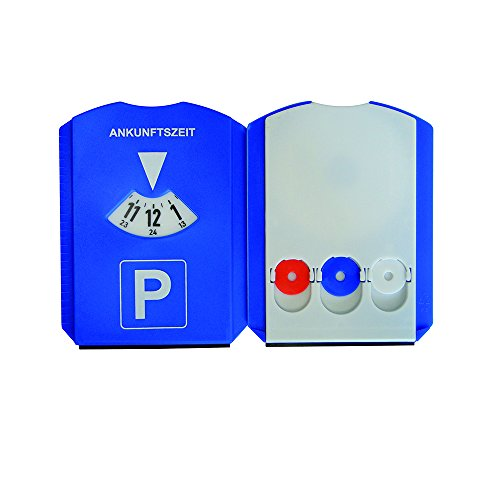 UNITEC KFZ 84501 UNITEC Multifunktions-Parkscheibe, aus Kunststoff, blau