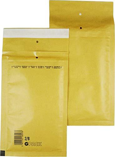 200 Stück Luftpolsterumschläge Luftpolstertaschen Versandtaschen Gr. B2 / DIN A6+/C6 (140 x 225 mm außen), Farbe braun