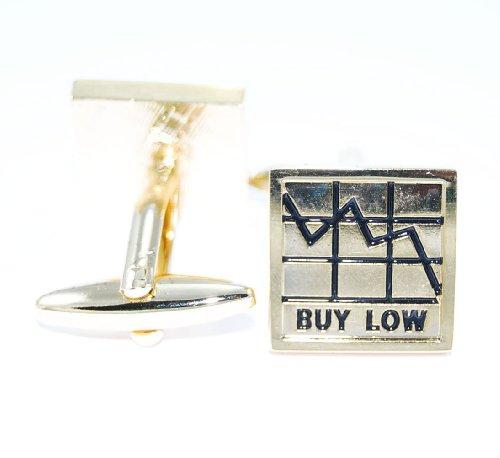 Gemelolandia broker buy low sell high Doré de forme carrée Argenté