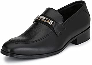 Afrojack Men's 100% Italian Leather Loafers with Leather Sole