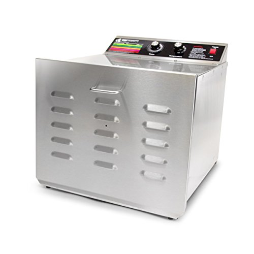 Buy Discount TSM Products Stainless Steel Food Dehydrator with 10 Stainless Steel Shelves