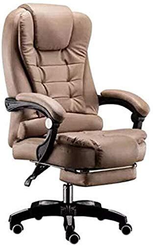 Ergonomischer Stuhl Bürostuhl Executive Chair PU Leder Bürostuhl Weicher ergonomischer Computer Schreibtischstuhl Manager Stühle für Büroräume