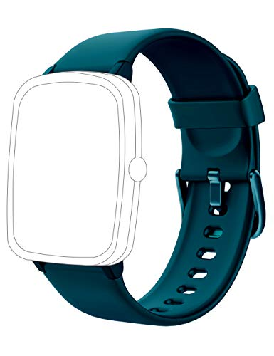 Soft Silicone Smart Watch Bands Replacement Straps Bands for YAMAY SW021 SW023 ID205L ID205U ID205S Smart Watch (Green)