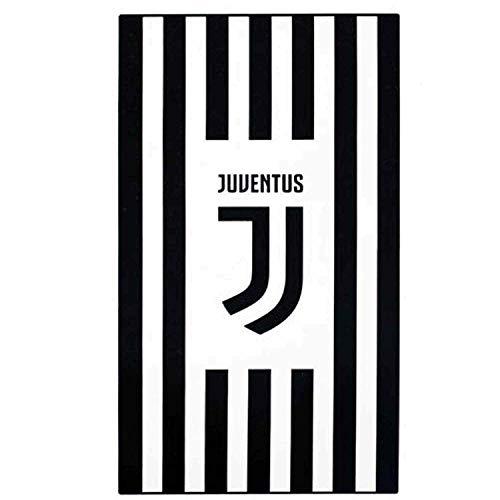 2 en 1 handdoek, patch, officieel FC Juventus (serie A), 100% katoen en 140 x 70 cm.