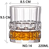 BQP Shot Whiskey Kristallglas Party Hochzeit Wein Likörglas Kaffee Tee Tasse für Bier Spirituosen Gläser Nr. 14, 220 ml.