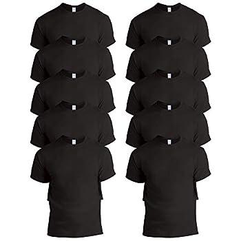 Gildan Men s 10-Pack Heavy Cotton Adult T-Shirt  G5000  Black Large