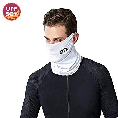 Maschera Bandana Scaldacollo Estivo Sportivo Maschera Corsa Maschera per Il Collo Ghette Unisex Maschera da Ciclismo per Uomo e Donna (Bianca)