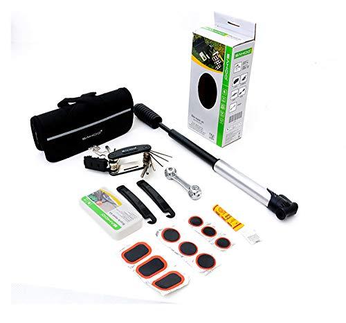 ASHU Bicycle Multi-Tool, Combo Tool, Repair, Tire Repair Tool, Mountain Bike Tire Repair, Set of Mini Air Pump
