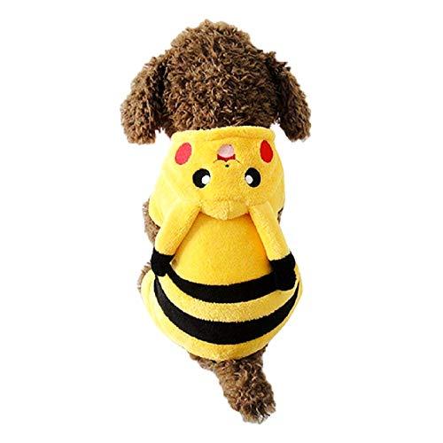 KIRALOVE Disfraz de Pikachu - Pokemon - Dibujos Animados - Perro - s - Disfraces - Carnaval de Halloween - Idea de Regalo Original Pokemon Pikachu