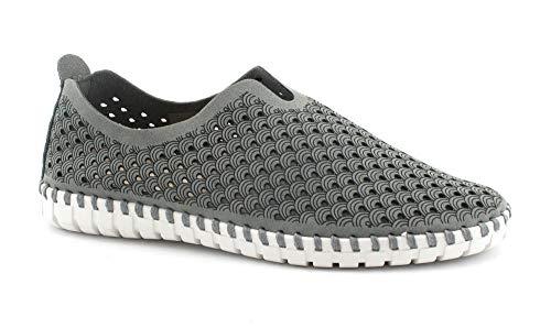 Grunland MAGI SC4416 graue Schuhe Frau Flexibler Slip auf Stoff 37