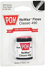 POH NoWax Floss Classic 490 - 100 yds. each, Pack of 5